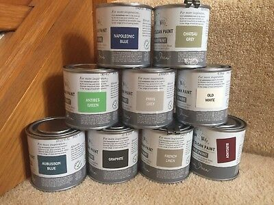 Annie Sloan Paint - 1 X 120ml Tins Of Each-Graphite, Old White + Aubusson  Blue • 31.25£
