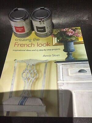 Annie Sloan Paint -2 X 120ml Tins- Graphite + Emperors Silk + Annie Sloan Book • 34£