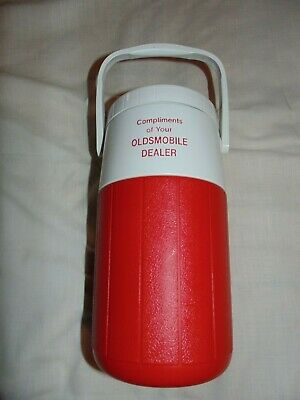 $20 • Buy Vintage Coleman Water Jug Cooler Oldsmobile Promo 1/2 Gallon 5590 Jug White Red