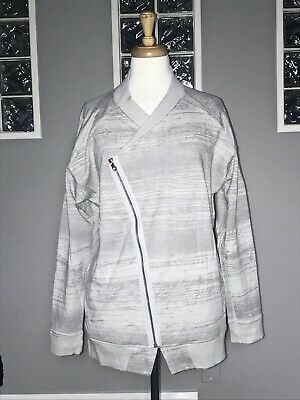 $ CDN68 • Buy Lululemon Mula Bundle Wrap Jacket 8 10 Righteous Stripe Silver Spoon Asymmetric