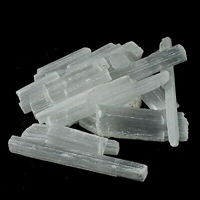 £2.99 • Buy Selenite Crystal Wand Stick Wand Natural Rough Raw Mineral Unpolished X 5 Pieces