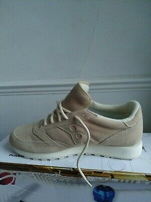 Saucony Shadow Original Sneakers From Suede Leather Cream Size 11 UK 12 US*Nice* • 79.99£
