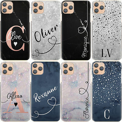 AU12.90 • Buy Personalised Initial Phone Case, Name Blue Marble Hard Cover For Google