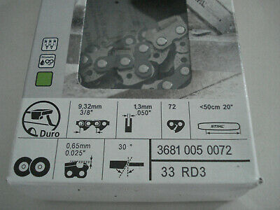 $62.50 • Buy 20  Stihl Carbide Chainsaw Chain 33rd3 .050 3/8  72 (one New)