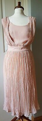 FRENCH CONNECTION Peach Nude 20s 30s Flapper Style  Dress 8 • 45£