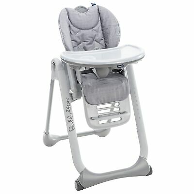 Chicco Polly 2 Start Baby / Child / Kids Highchair - Happy Silver • 109£