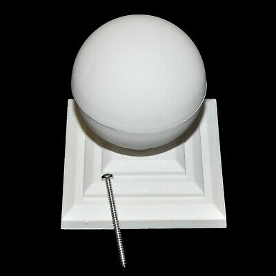 £6.79 • Buy WHITE PLASTIC FENCE POST CAP & BALL TO SUIT 4  100mm POST + STAINLESS SCREW