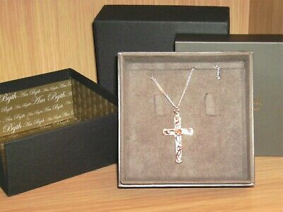 Clogau Sterling Silver & Gold Tree Of Life Cross With 18  Sterling Silver Chain • 70£