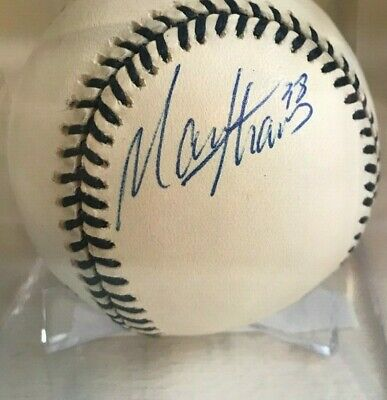 $ CDN26.45 • Buy Marcus Thames Autographed Official American League Mantle Baseball Ny Yankees