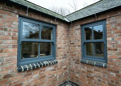 Traditional Timber Mock Sash Windows Hardwood Sill Bespoke Custom Sizes • 600£
