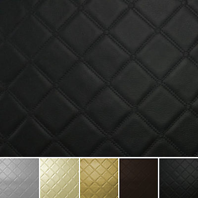 Diamond Stitch Embossed Vinyl Faux Leather Car Upholstery Camper Boat Fabric • 8.49£