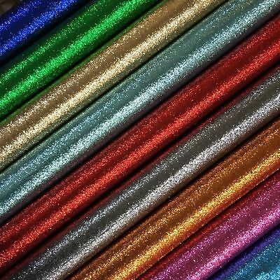 Chunky Glitter Craft Creative Childrens Fabric Plain Colours DIY Crafts Hair Bow • 2.39£