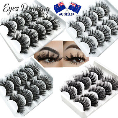 AU10.99 • Buy 3D Mink False Eyelashes 5/10 Pair Wispy Cross Long Thick Soft Fake Eye Lashes AU