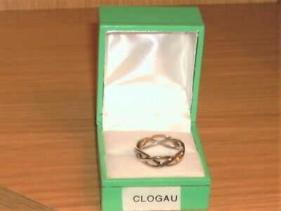 Clogau Sterling Silver & Gold Ring Size N Hallmarked Clogau And The Welsh Dragon • 31£