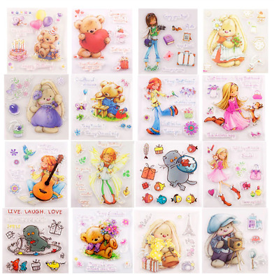 Clear Stamps For Card-making/scrapbooking Cute Bunnies 14 Designs To Choose From • 4£