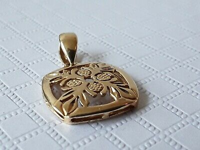 14CT GOLD PENDANT (CLOGAU GOLD ?)FULLY HALLMARKED 1.8 Grams • 40£
