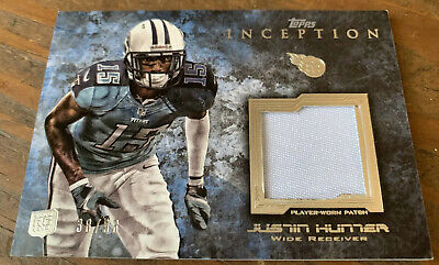 $1 • Buy 2013 Topps Inception- Justin Hunter JERSEY Patch RELIC Rookie RC #38/93 Titans