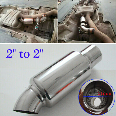 $ CDN28.03 • Buy Stainless Steel Car Exhaust Pipe Resonator Silence Muffler 2  Inlet To 2 Outlet