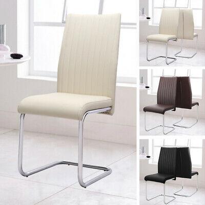 £269.95 • Buy 2/6/8 Dining Chair Set Z-Shaped Chairs Modern Elegant Home Furniture Chrome Legs
