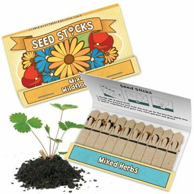 £6.95 • Buy Seed Sticks Tobar Grow Your Own Mixed Herbs & Wild Flowers (1, 4 Or 12 Supplied)