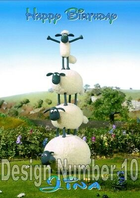 Shaun The Sheep Timmy Time Personalised Large Birthday Card Several Designs Look • 2.95£