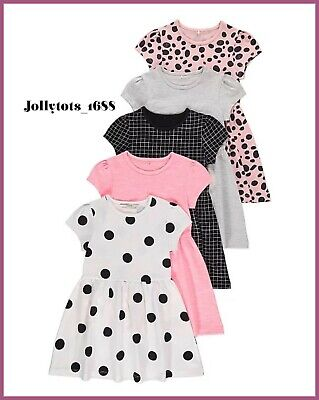 NEW Girls Dresses Pick From 5 Various Dresses Colour Age 2-4 Years • 5.99£