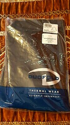 $14.99 • Buy Vintage Duofold Thermal Wear Black L Bottoms NWT