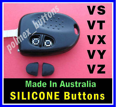 AU11.50 • Buy To Suit Holden Commodore VS VT VX VY VZ  Remote Key - 2 Silicone Key BUTTONS