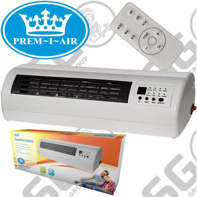 Prem-I-Air 2KW Electric Over Door Warm Air Curtain Fan Wall Heater Remote Contro • 47.99£