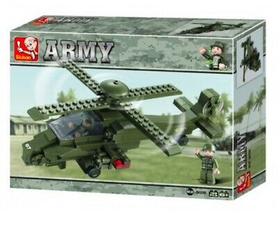 £10.99 • Buy 199 Piece Army Attack Helicopter Construction Brick Toy Playset Inc X 2 Figures