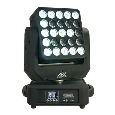 £899 • Buy AFX LED Moving Head Wash Panel 25 X 12W RGBW Pixel Mapping Lighting