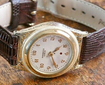 Vintage 1920's Harwood Watch .. The First Self Winding Watch .. BEAUTIFUL • 925£