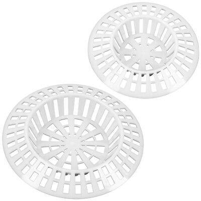 WHITE SINK STRAINERS 1.5  / 1.75  Plug Hole Basin Bath Cover Hair Catcher Filter • 1.79£