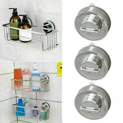 AU11.87 • Buy Stainless Bathroom Sucker Shelf Shower Caddy Storage Holder D8E7 Rack-Organ R3V5