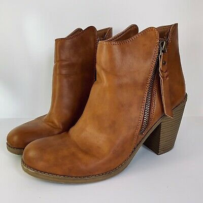 $25.99 • Buy Brown Leather Ankle Boots, American Rag Cie Womens 9