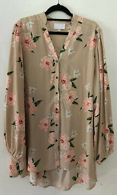 AU30.60 • Buy SILENCE AND NOISE URBAN OUTFITTERS Womens Size US 14 AUS 18 Top  Nude Floral