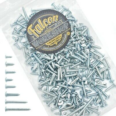 £6.79 • Buy 500g OF 'MIXED IN THE PACK' ZINC PLATED FLANGE POZI PAN SELF TAPPING SCREWS