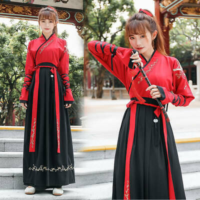 $ CDN36.22 • Buy Womens Mens Unisex Chinese Traditional Oriental Style Hanfu Dress Robes Outfit
