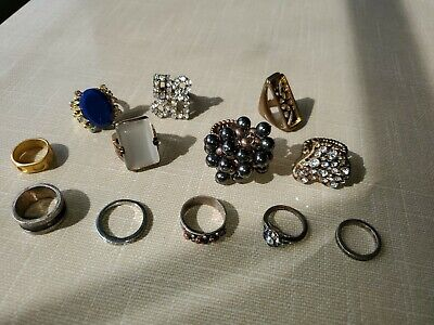 $ CDN48.99 • Buy Vintage Ladies Lot Of 12 Costume Jewelry Rings From Providence, R.I. USA