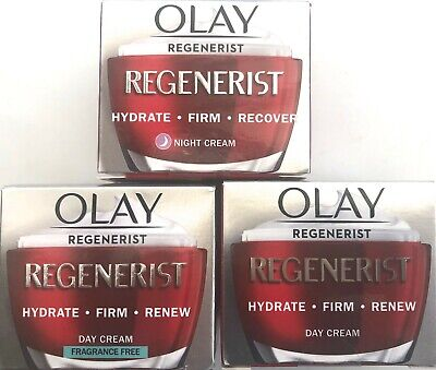 OLAY DAY NIGHT FRAGRANCE FREE REGENERIST ADVANCED ANTI-AGEING 3 POINT CREAM 50ml • 13.99£