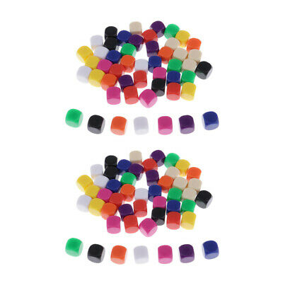 AU19.68 • Buy 100x Plastic Colorful Opaque Blank 6 Sided Dice 16mm For DND RPG Board Game