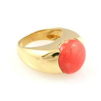 Lady's Ring Gold 18 Carats And Coral 10 Grams • 670.54£