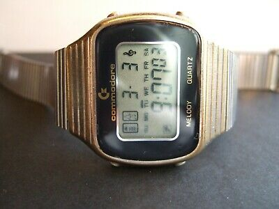 View Details Very Rare Men's Commodore International LARGE LCD Digital Melody Watch! • 355.00£