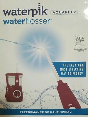 View Details WaterPik Aquarius Waterflosser Dental Oral Irrigator Burgundy WP669 -NewOpenBox • 51.25$