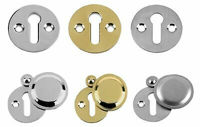 Victorian polished Brass open Escutcheon traditional  keyhole door lock cover