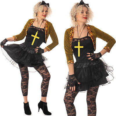 AU44.55 • Buy Madonna 80s Popstar Womens Wild Child Ladies1980s Adult Fancy Dress Outfit Lot