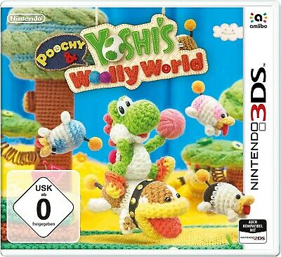 AU53.99 • Buy Nintendo 3DS Game - Poochy & Yoshis Woolly World EN/GER Boxed