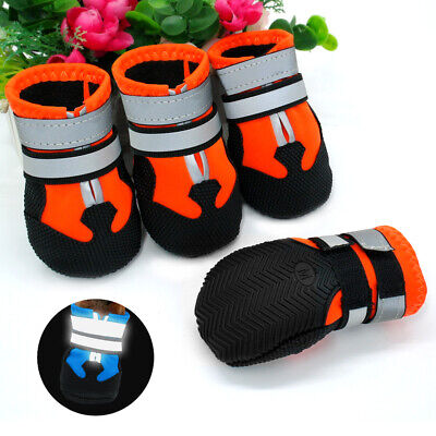 £10.99 • Buy Waterproof Protective Large Dog Shoes Non Slip Reflective Big Snow Boots Booties