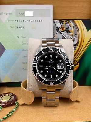 $ CDN11126.35 • Buy Rolex Submariner Date 16610 Black Dial Stainless Steel Box Papers 2005