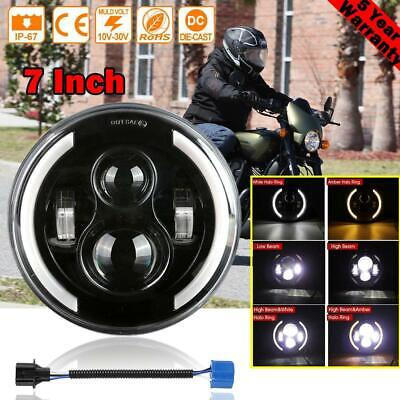 AU37.79 • Buy DOT 7  Inch LED Projector Motorcycle Headlight Round For Harley Davidson FLD AU